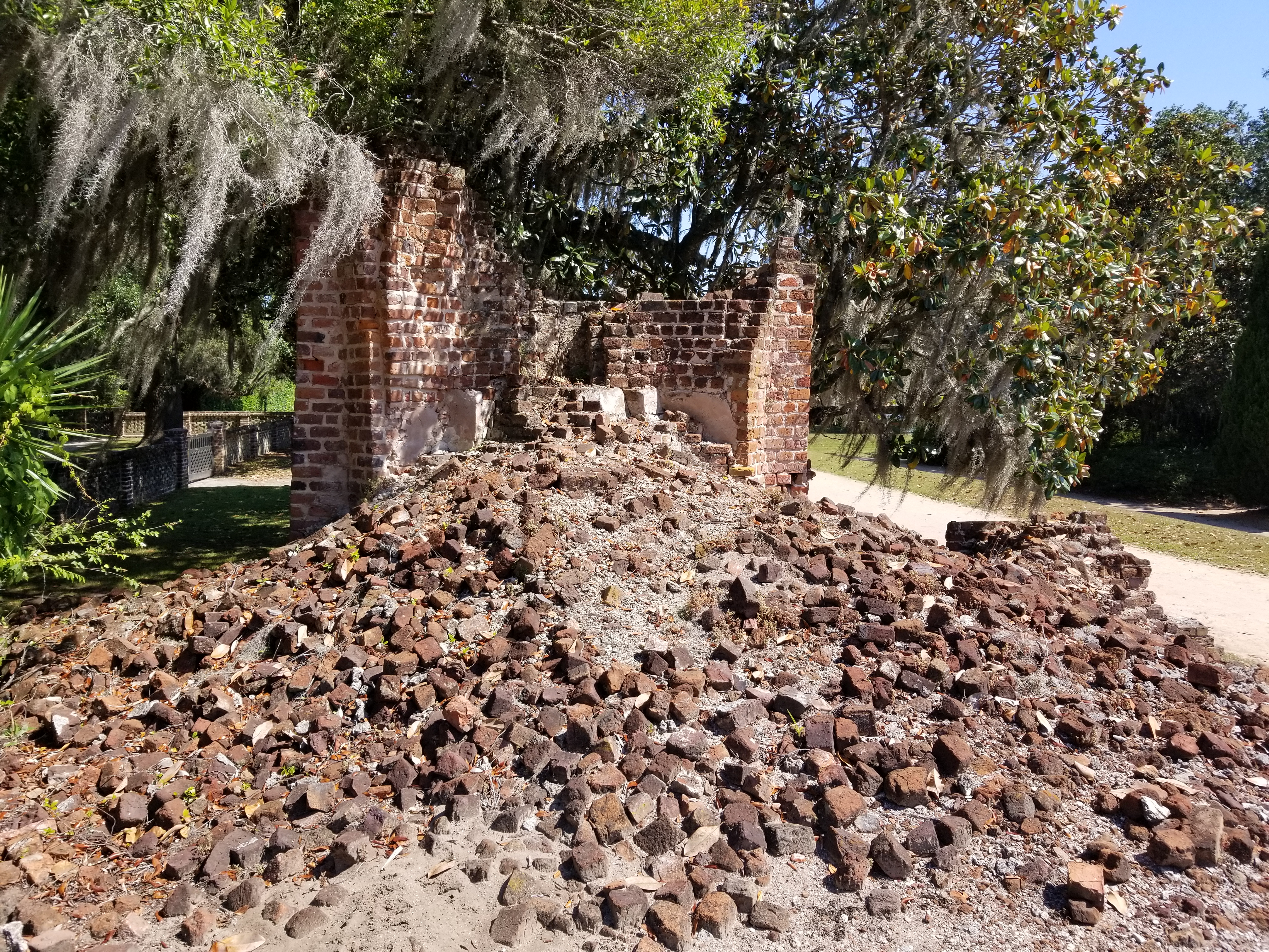 All that remains of the main house and the art/music galleries.